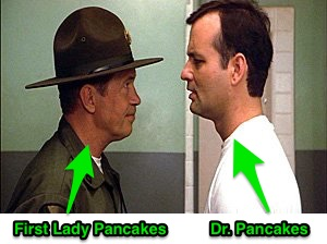 """Lighten up, Pancakes."""